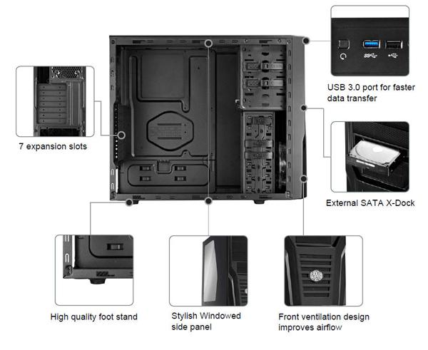 Cooler Master Elite 431 Plus - Mid Tower Computer Case