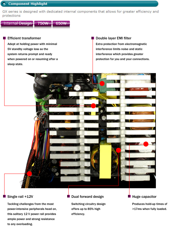 gx 650w 650 watt 80 plus bronze certified active pfc power supply rh coolermaster com True Cooler Wiring Diagrams Walk-In Cooler Wiring-Diagram