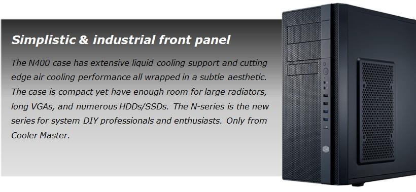 Cooler Master N400 Gaming Computer Cabinet