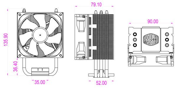 Cooler Master  Hyper Tx3  Fan Bracket Version