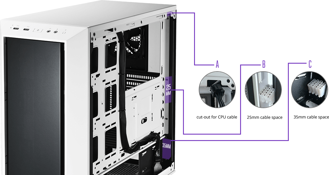Cooler Master, MasterBox 5, seamless bezel,window - White