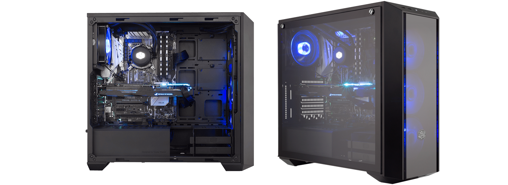 Masterbox Pro 5 Rgb Cooler Master Cpu Case Fan 3wire To Power Supply 4wire Takeoff Cable This Is Designed Allow Users The Freedom Configure Everything From Components Lighthing However They Want